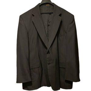 Men's Towncraft 42L Suit Jacket Black Wool Blazer